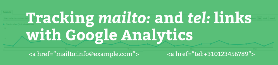 Tracking mailto: and tel: links with Google Analytics